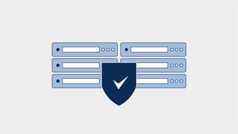物理的なデータ センターのセキュリティの図